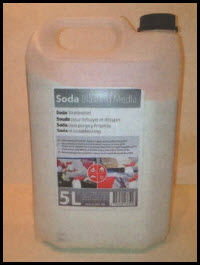 RBL Soda Blasting Media (5ltr Bottle)